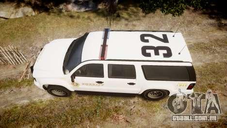 GTA V Declasse Granger LSS White [ELS] para GTA 4 vista direita