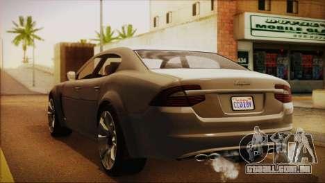 Lampadati Felon (IVF) para GTA San Andreas esquerda vista