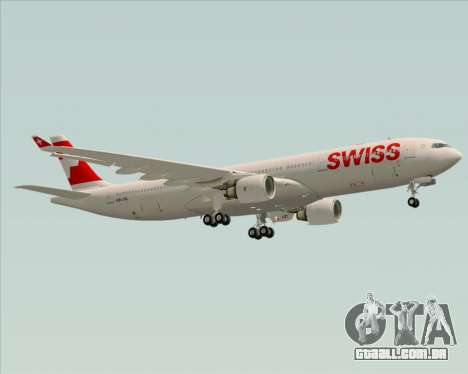 Airbus A330-300X Swiss International Air Lines para GTA San Andreas vista superior