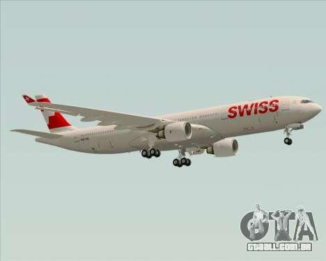 Airbus A330-300X Swiss International Air Lines para GTA San Andreas vista superior