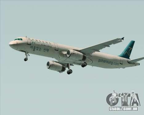 Airbus A321-200 Hansung Airlines para GTA San Andreas esquerda vista
