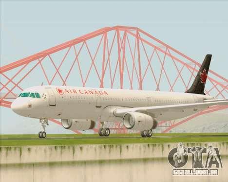 Airbus A321-200 Air Canada para GTA San Andreas esquerda vista