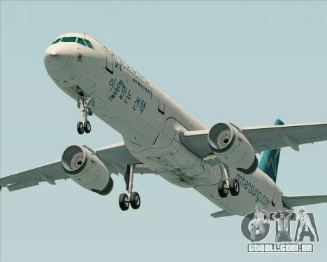 Airbus A321-200 Hansung Airlines para GTA San Andreas vista direita