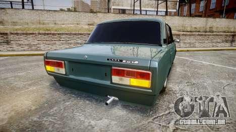 UTILIZANDO-2107 hobo para GTA 4 traseira esquerda vista