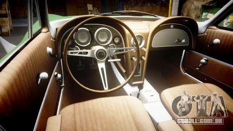 Chevrolet Corvette Stingray 1963 para GTA 4 vista interior