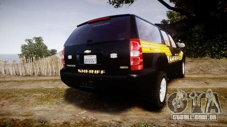 Chevrolet Suburban [ELS] Rims1 para GTA 4 traseira esquerda vista