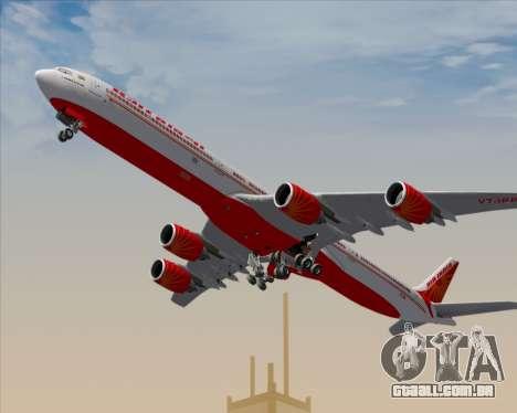 Airbus A340-600 Air India para o motor de GTA San Andreas