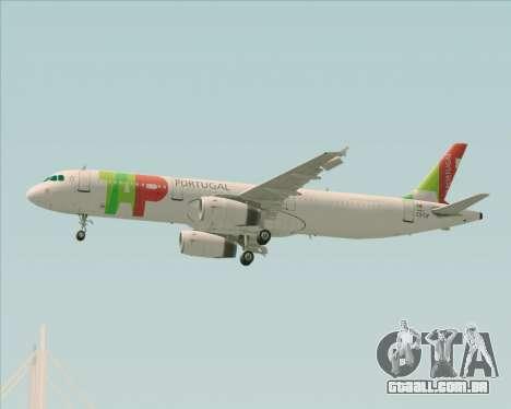 Airbus A321-200 TAP Portugal para GTA San Andreas vista superior