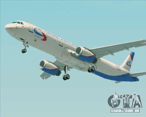 Airbus A321-200 Ural Airlines para as rodas de GTA San Andreas