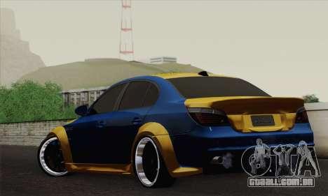 BMW M5 E60 Lumma para GTA San Andreas esquerda vista