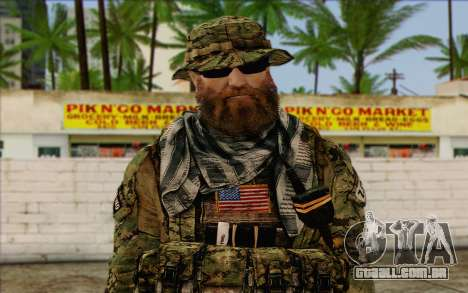 Dusty MOHW from Medal Of Honor Warfighter para GTA San Andreas terceira tela