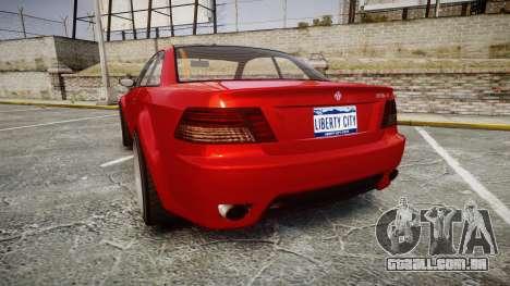 GTA V Ubermacht Sentinel XS para GTA 4 traseira esquerda vista