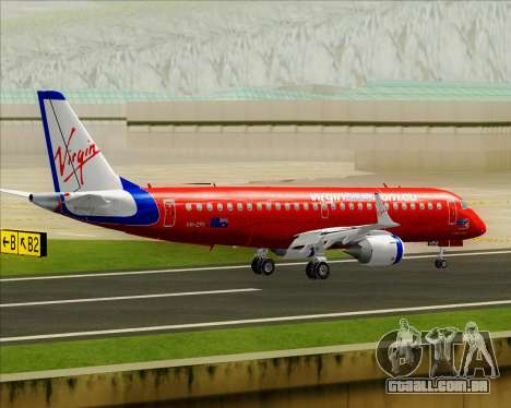 Embraer E-190 Virgin Blue para GTA San Andreas vista inferior
