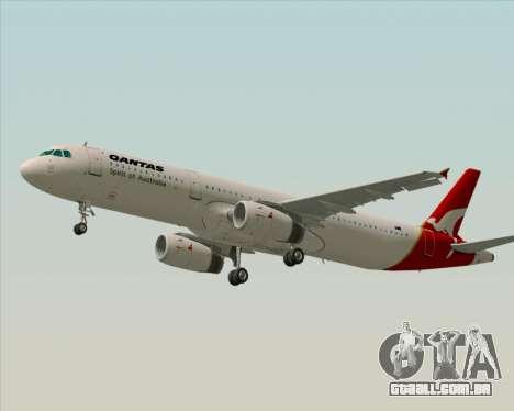 Airbus A321-200 Qantas para GTA San Andreas vista interior