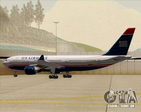 Airbus A330-200 US Airways para as rodas de GTA San Andreas