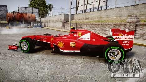 Ferrari F138 v2.0 [RIV] Massa TIW para GTA 4 esquerda vista