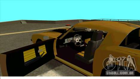 Chevrolet Camaro Z28 Bumblebee para GTA San Andreas traseira esquerda vista