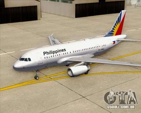 Airbus A319-112 Philippine Airlines para o motor de GTA San Andreas