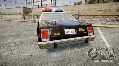Ford LTD Crown Victoria 1987 LAPD [ELS] para GTA 4 traseira esquerda vista