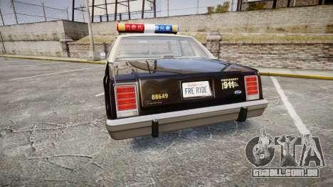 Ford LTD Crown Victoria 1987 LAPD [ELS] para GTA 4 traseira esquerda vista