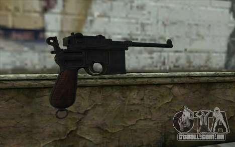 Mauser C96 v2 para GTA San Andreas segunda tela