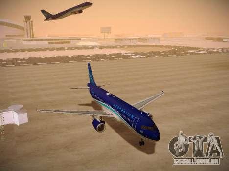 Airbus A320-214 Azerbaijan Airlines AZAL para GTA San Andreas vista traseira