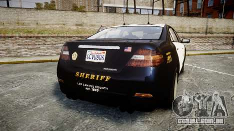 GTA V Vapid Interceptor LSS Black [ELS] Slicktop para GTA 4 traseira esquerda vista