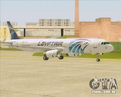 Airbus A321-200 EgyptAir para GTA San Andreas vista superior
