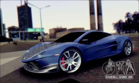 Shimmy Python 2012 para GTA San Andreas traseira esquerda vista