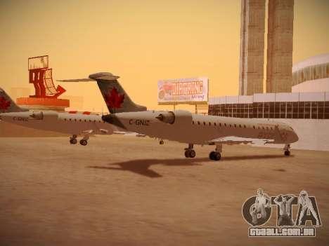 Bombardier CRJ-700 Air Canada Express para GTA San Andreas vista traseira