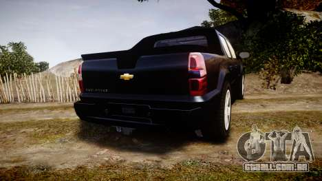 Chevrolet Avalanche 2008 Undercover [ELS] para GTA 4 traseira esquerda vista
