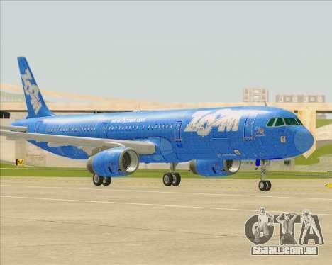 Airbus A321-200 Zoom Airlines para GTA San Andreas vista interior