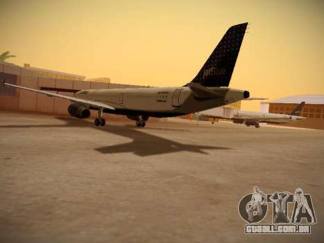 Airbus A321-232 jetBlue Woo-Hoo jetBlue para GTA San Andreas vista direita