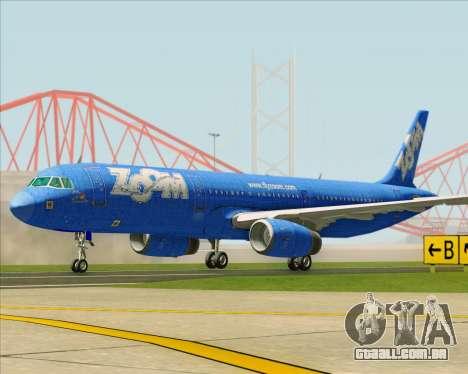 Airbus A321-200 Zoom Airlines para GTA San Andreas esquerda vista
