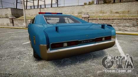 Imponte Dukes Police para GTA 4 traseira esquerda vista
