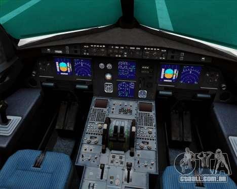 Airbus A321-200 Royal Jordanian Airlines para GTA San Andreas interior