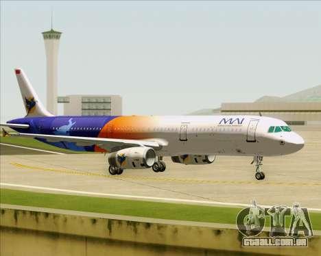 Airbus A321-200 Myanmar Airways International para GTA San Andreas vista traseira