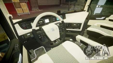 Volvo FH16 para GTA 4 vista de volta
