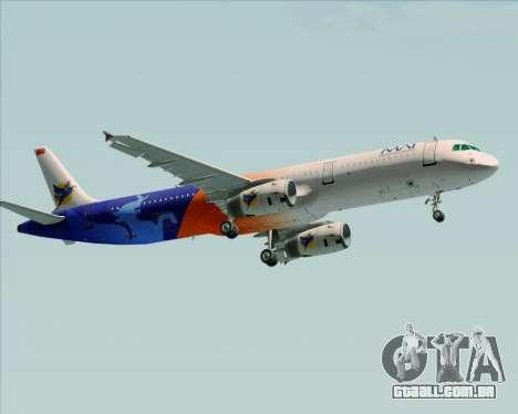 Airbus A321-200 Myanmar Airways International para GTA San Andreas traseira esquerda vista