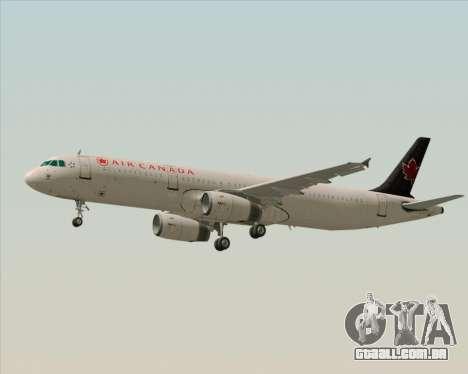 Airbus A321-200 Air Canada para GTA San Andreas vista traseira