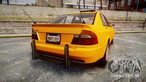Karin Sultan Taxi para GTA 4 traseira esquerda vista