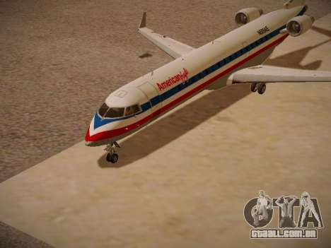 Bombardier CRJ-700 American Eagle para GTA San Andreas esquerda vista