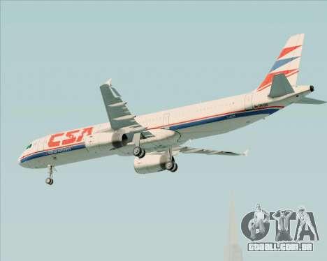 Airbus A321-200 CSA Czech Airlines para GTA San Andreas vista inferior
