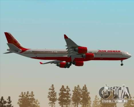 Airbus A340-600 Air India para GTA San Andreas vista superior