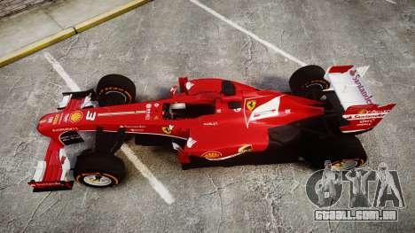 Ferrari F138 v2.0 [RIV] Alonso THD para GTA 4 vista direita