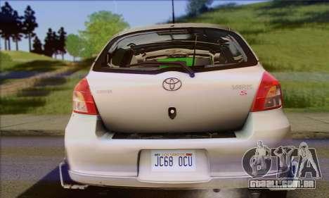 Toyota Yaris Shark Edition para GTA San Andreas vista traseira