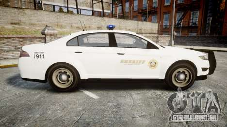 GTA V Vapid Interceptor LSS White [ELS] para GTA 4 esquerda vista
