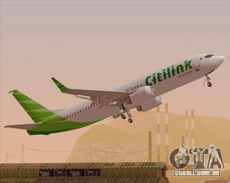 Boeing 737-800 Citilink para o motor de GTA San Andreas