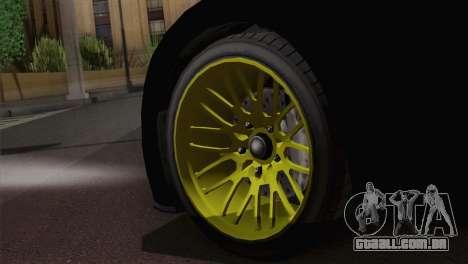 GTA 5 Adder para GTA San Andreas traseira esquerda vista