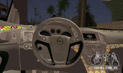 Opel Insignia para GTA San Andreas traseira esquerda vista